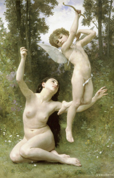 Love Takes Flight painting by Bouguereau