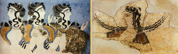 Minoan women in wall murals