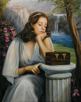 Pandora, an oil painting by Thomas Baker