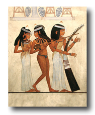 Egyptian Musician Girls by Thomas Baker