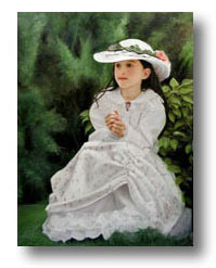 Little Girl in White by Thomas Baker