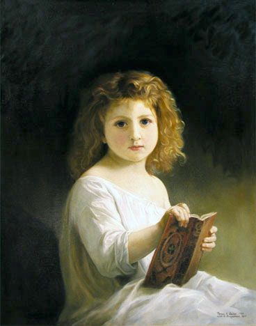 Storybook by Adolph Bouguereau reproduced by Thomas Baker