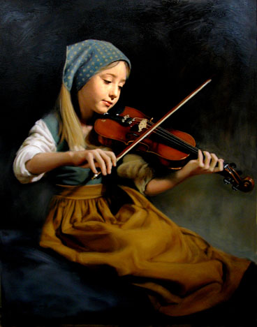 The Recital, an oil painting by Thomas Baker